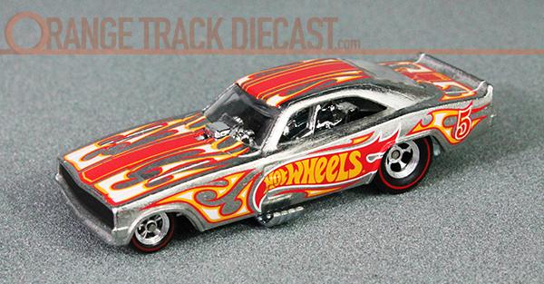 Hot Wheels Race Rewards 69 Dodge Charger Funny Car Orange Track