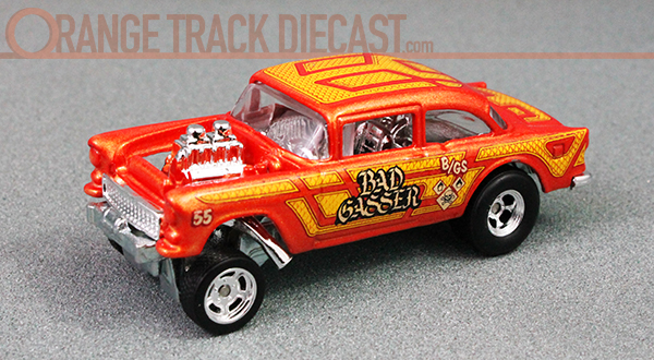 Car Culture Hw Redliners 55 Chevy Bel Air Gasser Orange Track