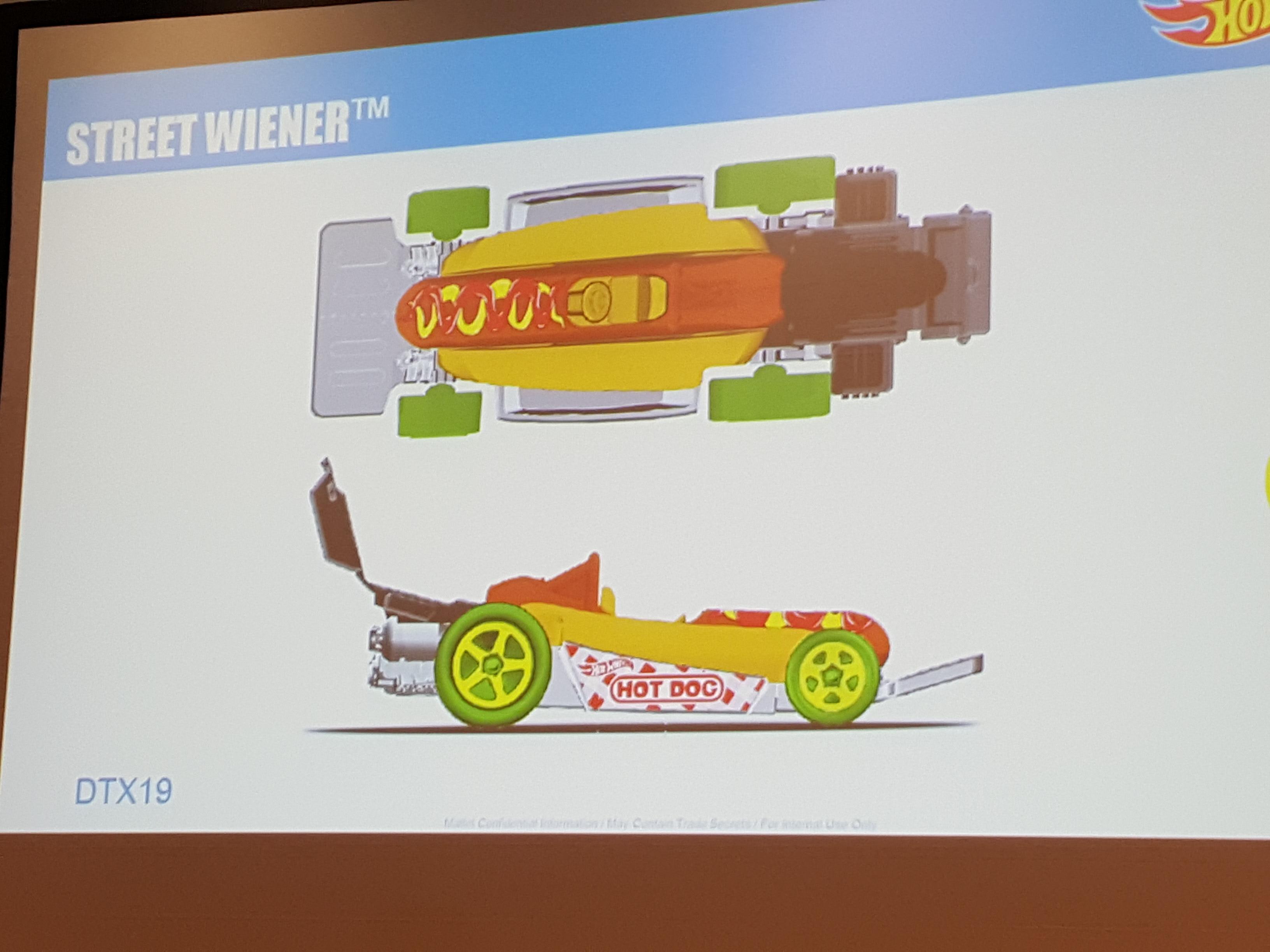 Mattel legends 1 24 1969 hot wheels twin mill concept car electronic - Street Wiener Hw City Works Car