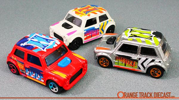 HW Art Cars MINI COOPER  Orange Track Diecast