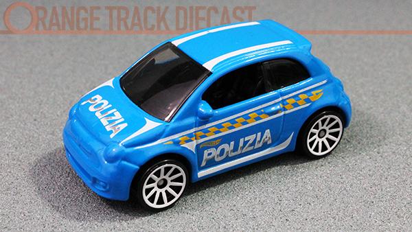 Hw Rescue Series Fiat 500 Orange Track Diecast
