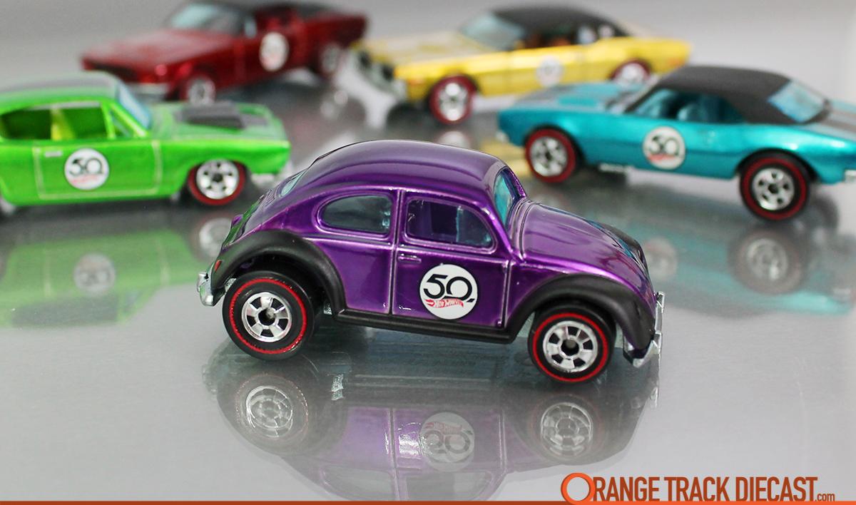 Hot Wheels 50th Anniversary Redlines Purple Volkswagen Beetle