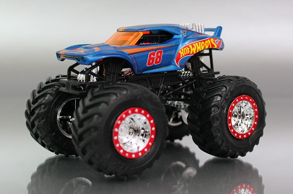 Monster Jam Epic Additions Hot Wheels Monster Truck Orange Track Diecast