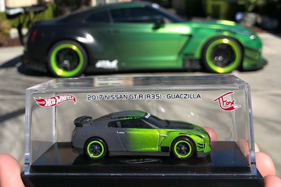 "Tanner Fox Hot Wheels '17 Nissan GT-R (R35) ""GUACZILLA"