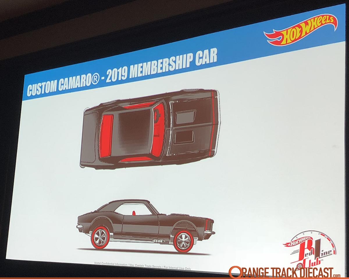 Hot Wheels RLC Red Line Club 2019 Membership FULL KIT Custom Camaro