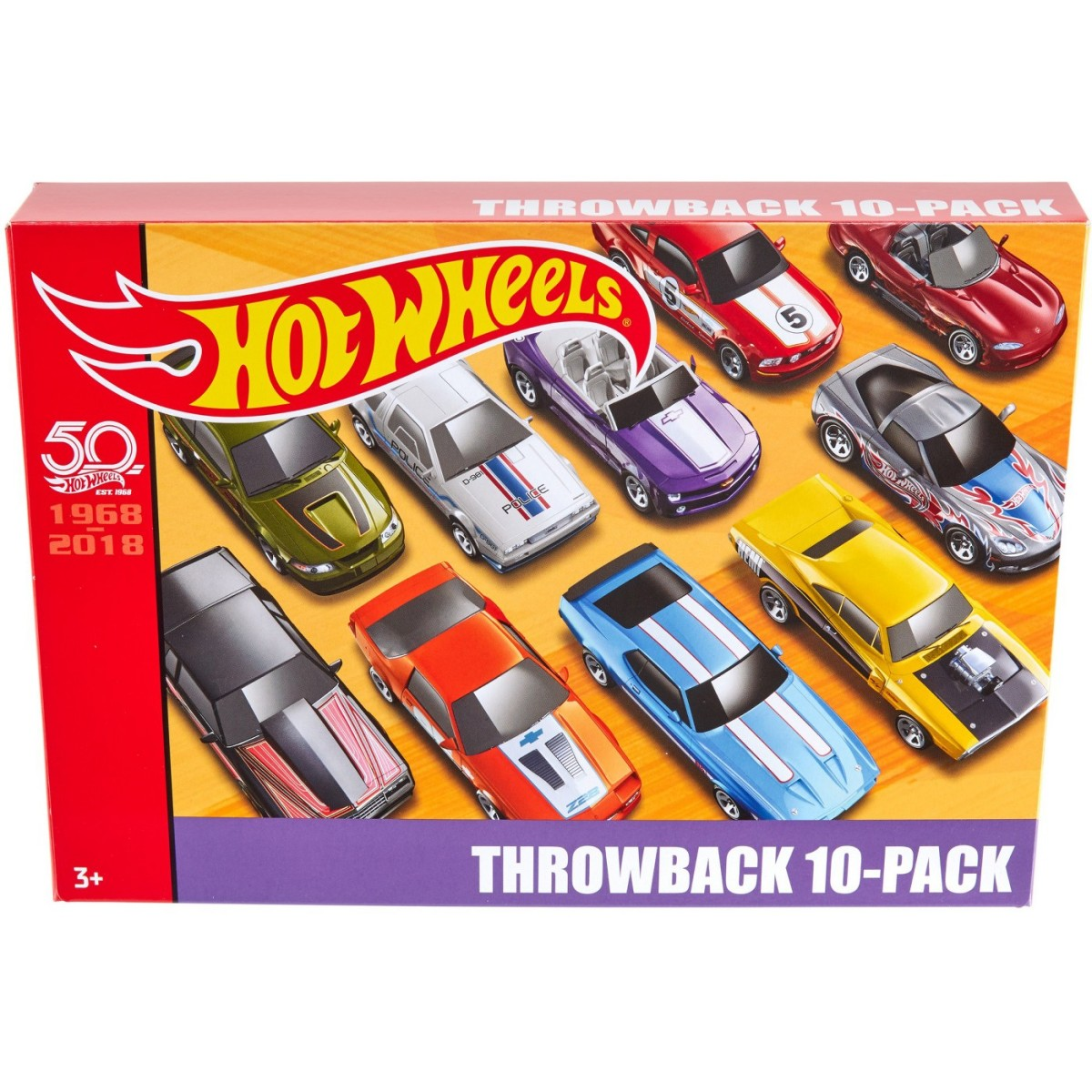 Hot Wheels Hw 50th Throwback 10 Pack Now Available On Target Com Orange Track Diecast
