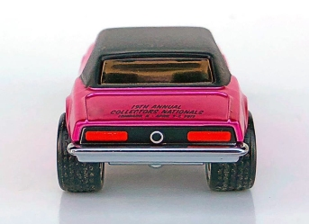 Custom Camaro from the 19th Annual Hot Wheels Collectors Nationals Convention (2019). Image courtesy of Collectors Events Unlimited. (rear view)