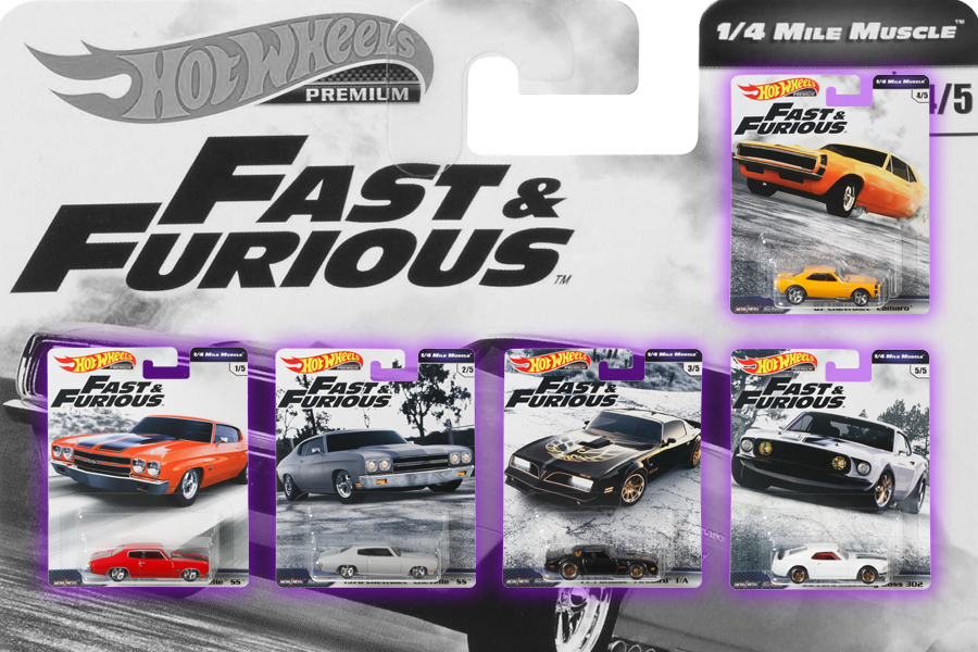 Hot Wheels Fast & Furious 1/4 Mile Muscle NOW ON AMAZON