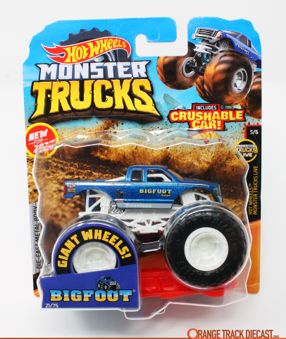 Hot Wheels Monster Trucks Live Bigfoot Orange Track Diecast