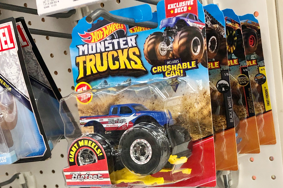 Retail Now The Hunt Is On Target Exclusive Bigfoot Could Prove To Be Another Hot Wheels Monster Trucks Chase Piece Orange Track Diecast