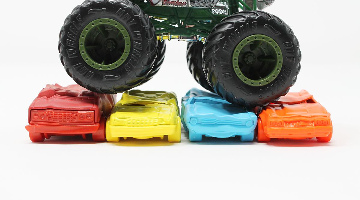 Hot Wheels Crushed Cars Coming Soon To Monster Trucks Line Here S Your Exclusive Look Orange Track Diecast