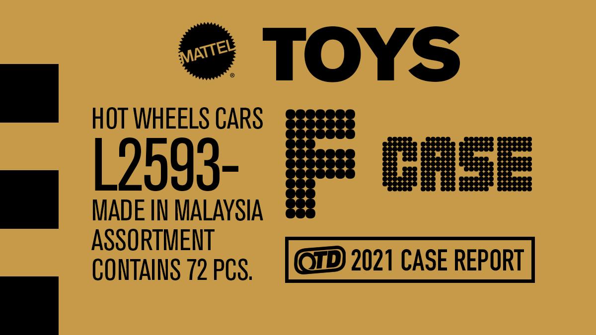 "Hot Wheels 2021 Mainline ""F"" Case Unboxing"